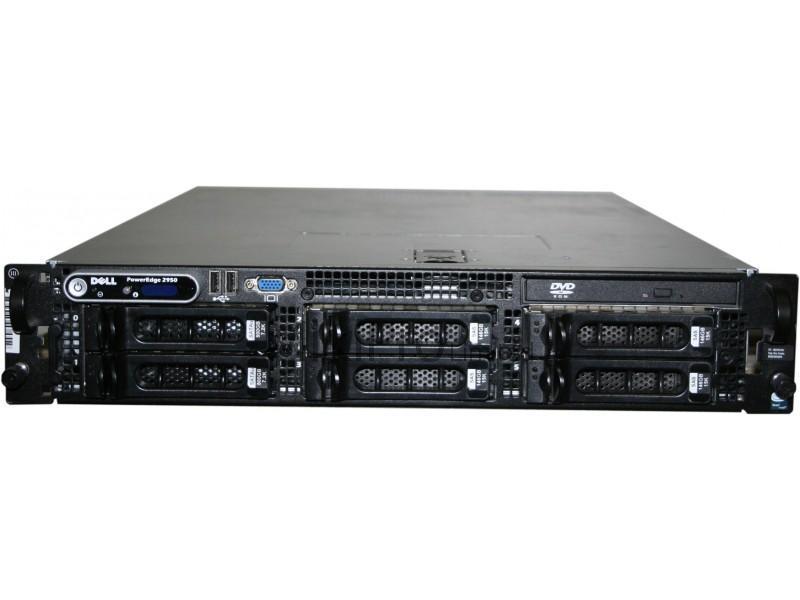 "Dell PowerEdge 2950 2 x XEON X5450/16GB RAM/2 X 73GB 15k 3,5"" SAS + 3 x 300GB SAS + 1 x 1TB SAS/2U/2  hot-swap toiteplokki/garantii 1 kuu"