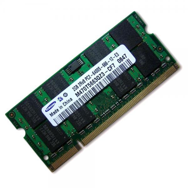 Sülearvuti DDR2 2GB PC2-6400/666 kasutatud, garantii 1 aasta