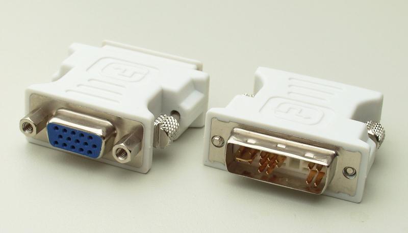 DVI > VGA adapter (üleminek), DVI-videokaardist VGA-monitori, kasutatud