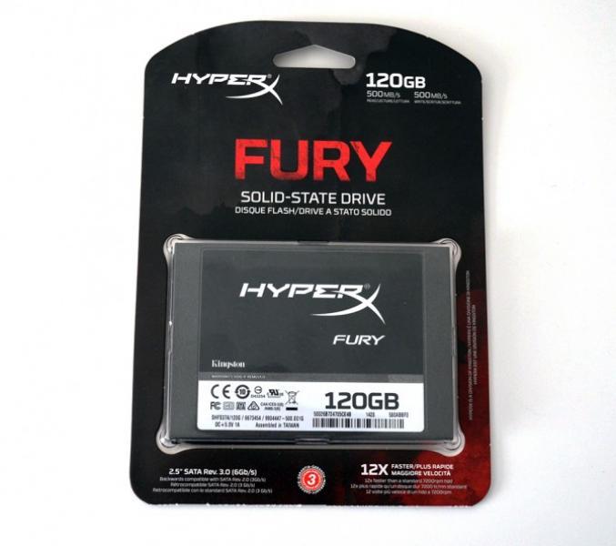 SSD SATA 120GB Kingston HyperX Fury, lugemine/kirjutamine 500MB/s, uus, garantii 3 aastat