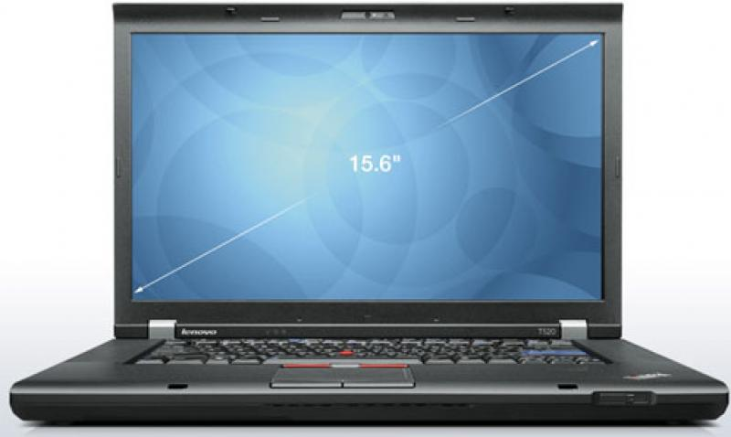 "Lenovo ThinkPad T520 i5-2520M/4GB RAM/320GB HDD/15,6"" LED (1600x900)/veebikaamera/DVD-RW/aku 1 h/Windows 7 Professional, garantii 1 aasta"