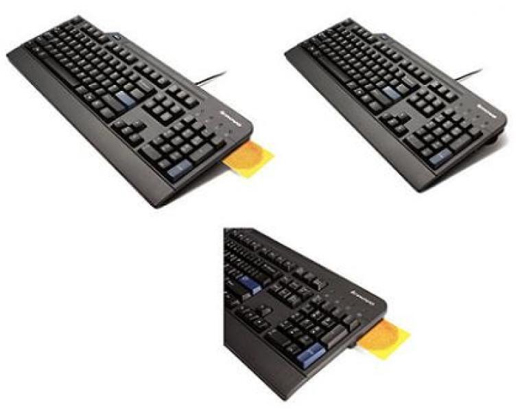Lenovo KUS0866 ID-KAARDILUGEJAGA USB-klaviatuur, skandinaavia laotusega, kasutatud, garantii 6 kuud