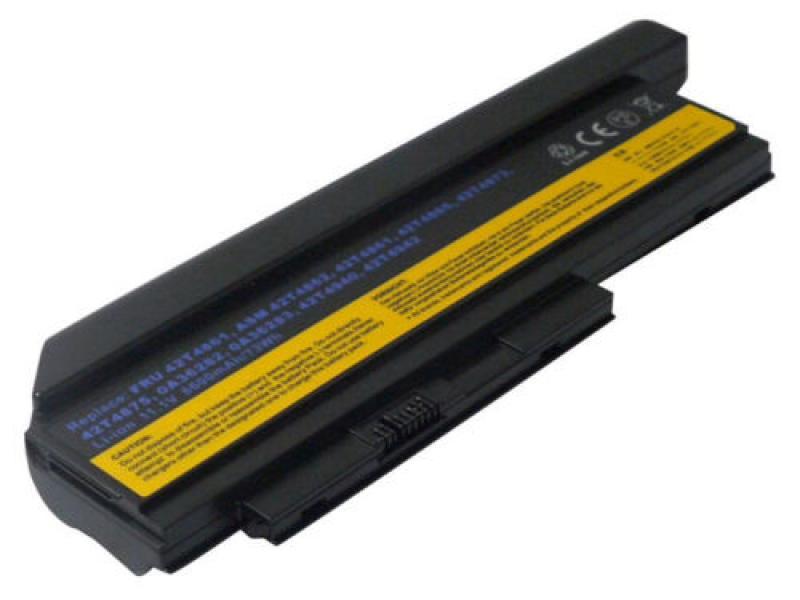 Aku Lenovo ThinkPad X220 6600mAh, 9-cell, (FRU 42T4861, FRU 42T4863), uus, garantii 6 kuud