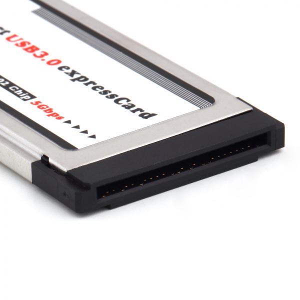 Express Card (34mm) USB 3.0 2 Port Adapter sülearvutile, uus, garantii 1 aasta
