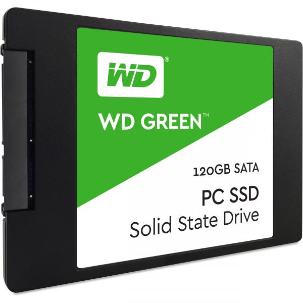 SSD SATA 120GB Western Digital Green, lugemine 540 MB/s, kirjutamine 430 MB/s, uus, garantii 3 aastat