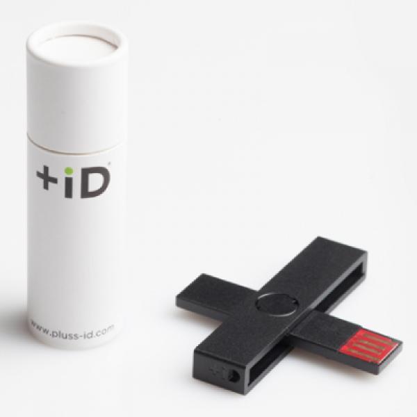 Kompaktne USB ID-kaardi lugeja +iD, uus (must/valge), garantii 2 aastat