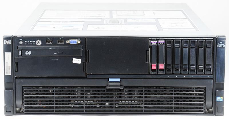 HP Proliant DL580 G5/2 x Quad-Core Intel® Xeon® E7340/98Gb RAM/72Gb SAS/Garantii 1 kuu