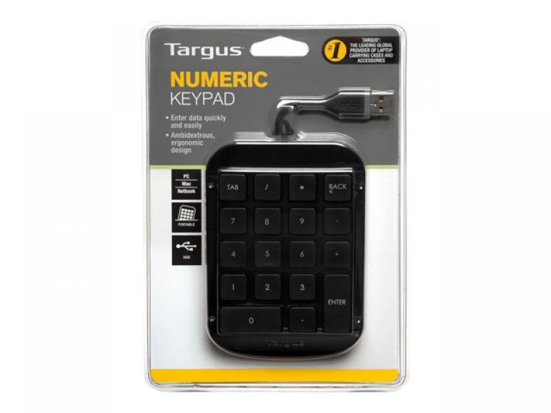 Targus numeric keypad, numbriklahvistik sülearvutile, USB-liides, uus, garantii 1 aasta