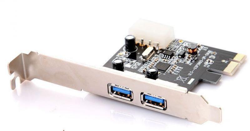 USB 3.0 PCI-e laienduskaart, 2 porti, low-profile, kaasas tagapaneel madala desktop-korpusega arvutitele, uus, garantii 1 aasta