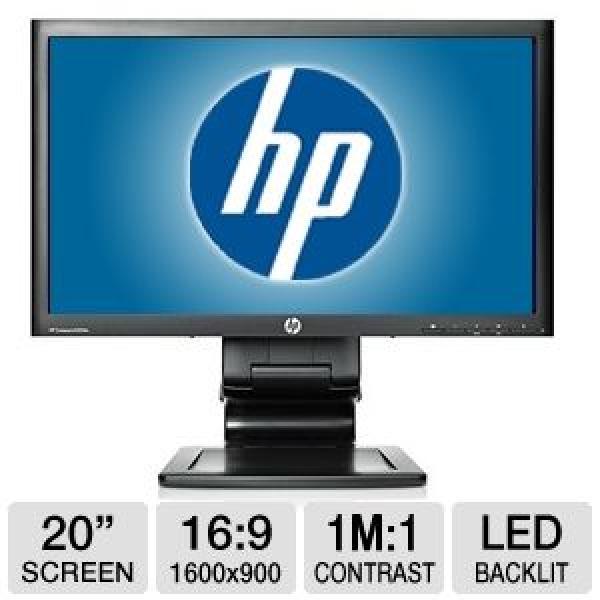"""20"""" Wide LED HP LA2006x, resolutsioon 1600x900, 5ms, DVI- & VGA-sisend, reguleeritava kõrgusega jalg, USB-hub, kasutatud, garantii 1 aasta"""