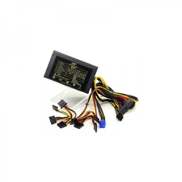 Toiteplokk ATX 530W DeepCool DE-530, 120mm vent, 24-pin & 8pin & PCI-E 6+2pin & 4xSATA & 3x MOLEX, uus, garantii 2 aastat