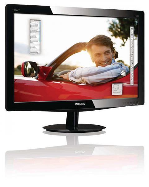 """20"""" Wide LED Philips 206V3L, resolutsioon 1600x900, 5 ms, DVI- ja VGA-sisend, ekraanil paar minimaalset kriimu, garantii 1 aasta"""
