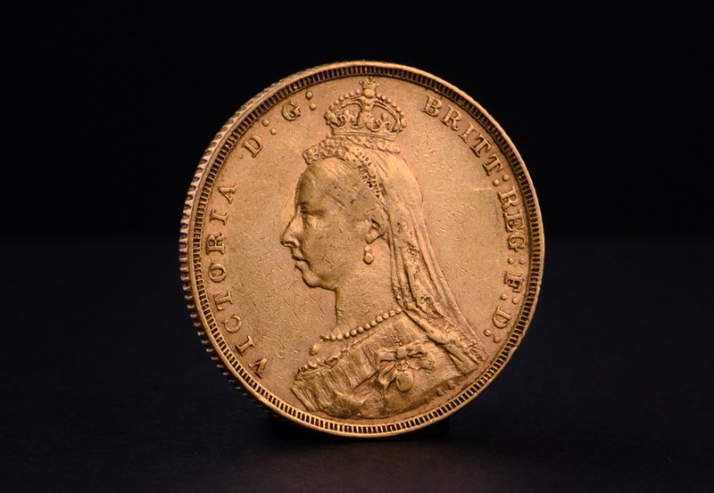 Brittisk Guld Sovereign Victoria