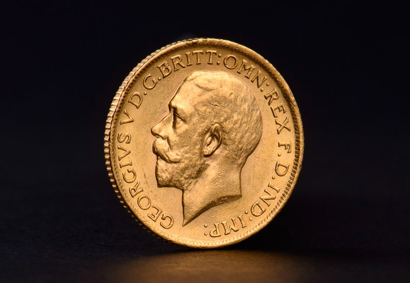 Brittisk Guld Sovereign George V