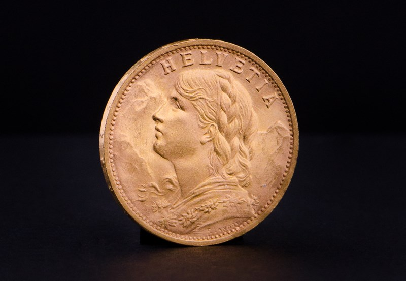 Swiss 20 Francs Helvetia