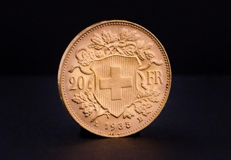 Schweizisk 20 Franc Helvetia