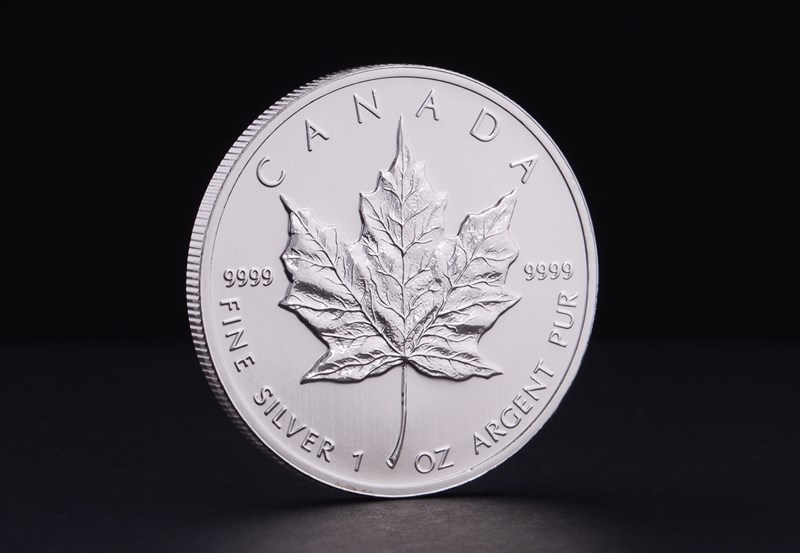 1 oz Canadiske Maple Leaf Sølvmønt