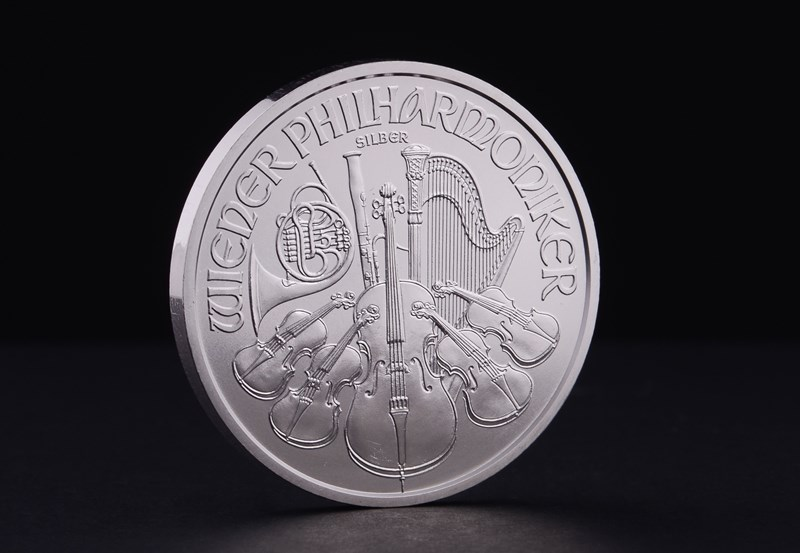 1 oz Østrigsk Philharmoniker Sølvmønt