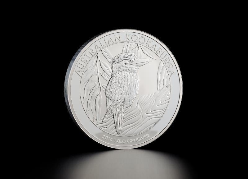 2014 1 kg Australian Silver Kookaburra