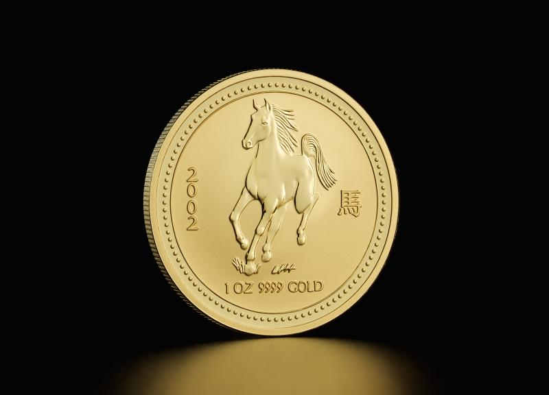 2002 1 oz Australian Gold Lunar Year of the Horse