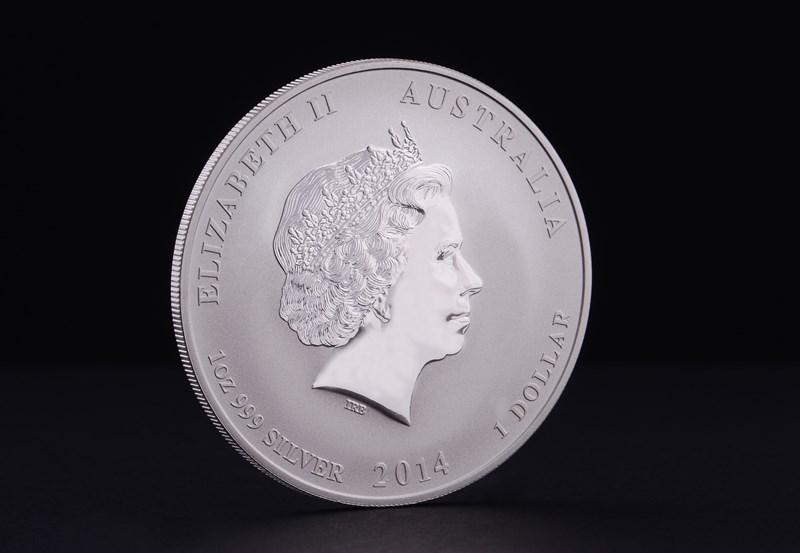 2014 Australske Lunar Hestens År Sølvmønt