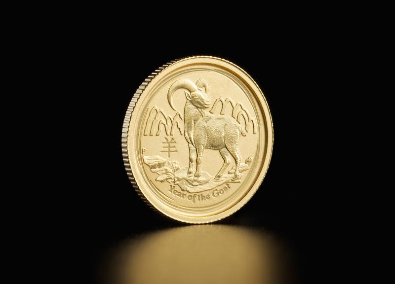 2015 1/20 oz Australian Gold Lunar Year of the Goat