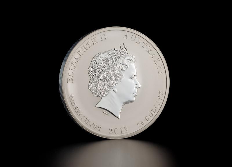 2013 1 kg Australisk Silver Lunar – Ormens År