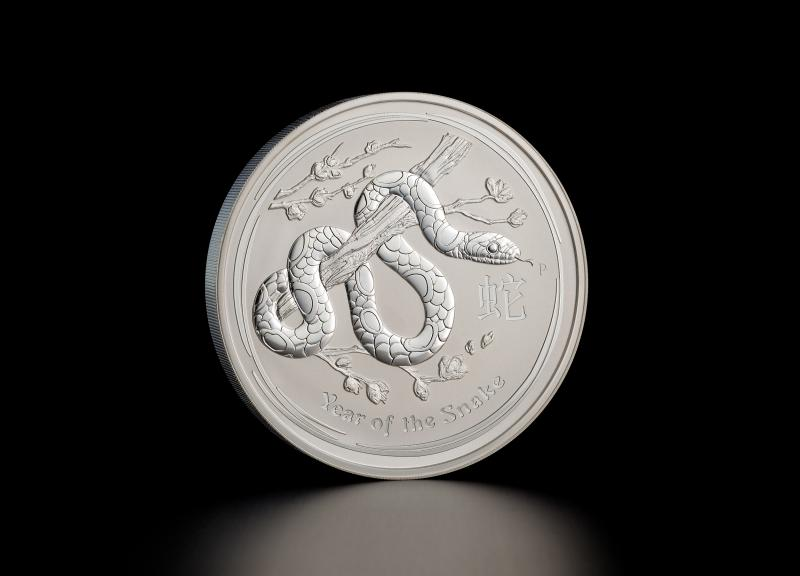 2013 1 kg Australian Silver Lunar Year of the Snake