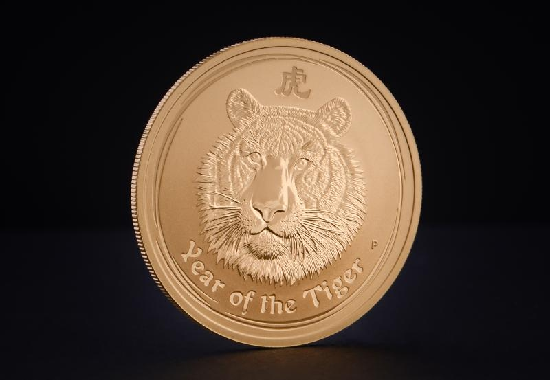 2010 1 oz Australian Gold Lunar Year of the Tiger