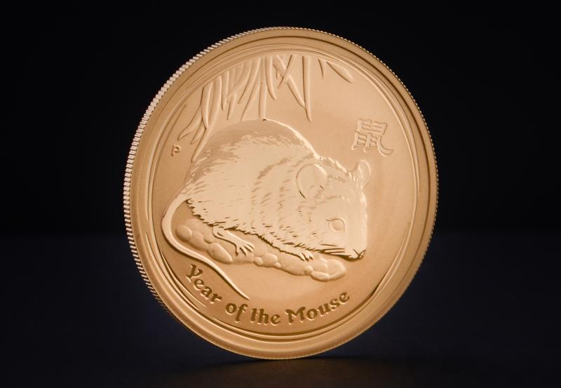2008 1 oz Australian Gold Lunar Year of the Mouse