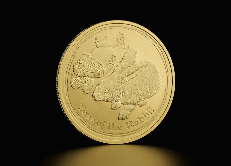 2011 1 oz Australian Gold Lunar Year of the Rabbit