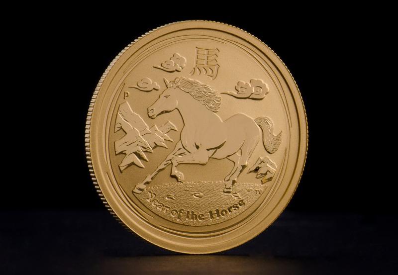 2014 1 oz Australisk Guld Lunar – Hästens År