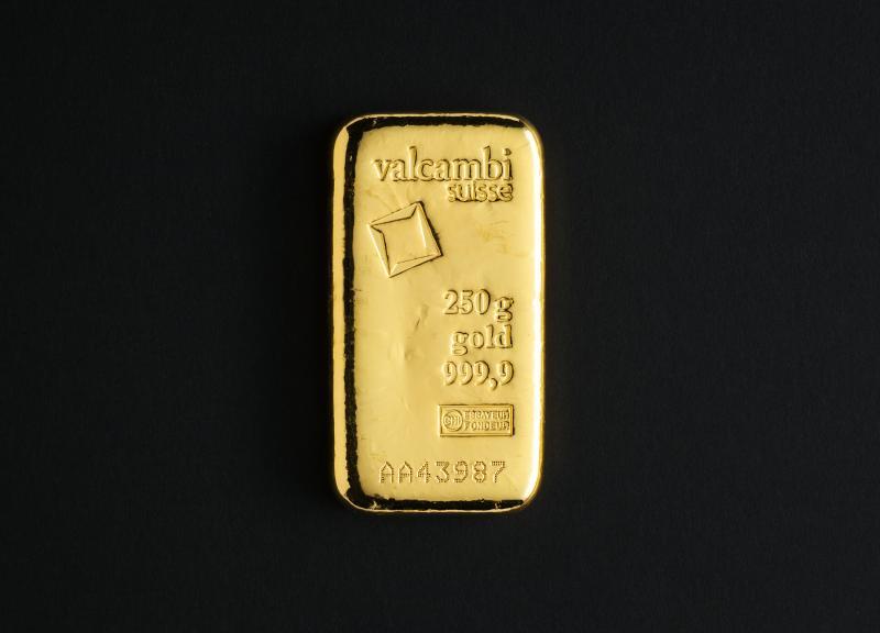 250 gram Guldtacka Valcambi Suisse