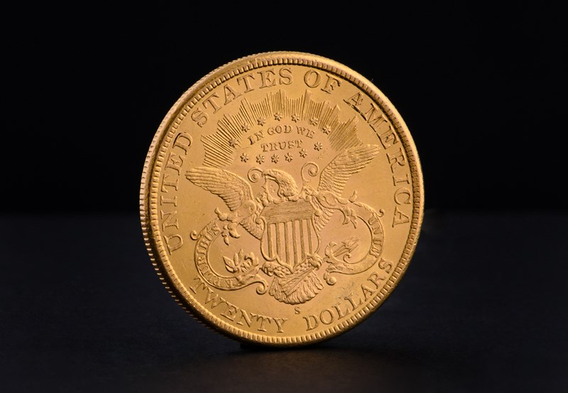 $20 Amerikansk Double Eagle Liberty Head