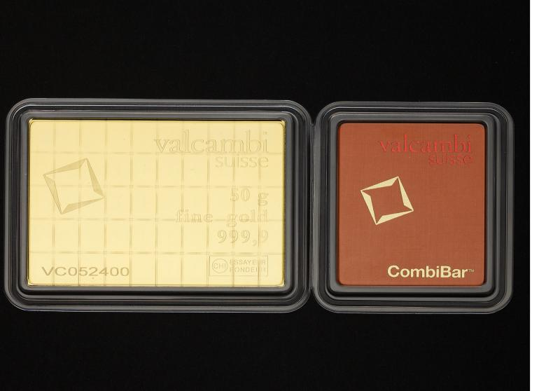 50×1 gram Gold CombiBar Valcambi Suisse