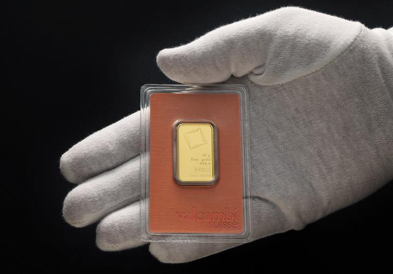 20 gram Guldtacka Valcambi Suisse
