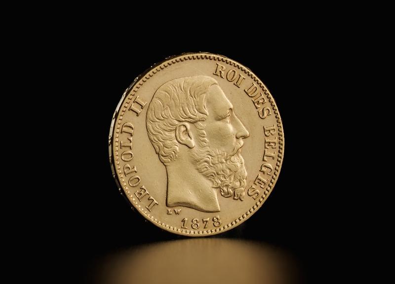 Belgisk 20 Francs Leopold II