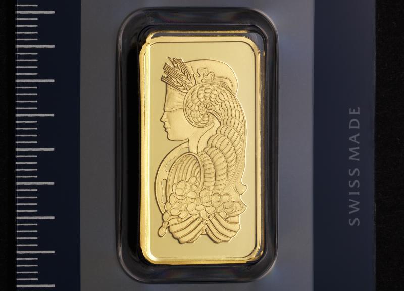 1 oz Guldtacka PAMP Fortuna