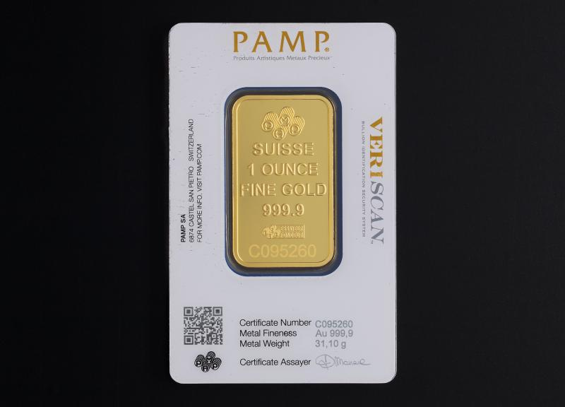 1 oz Gold Bars PAMP Fortuna