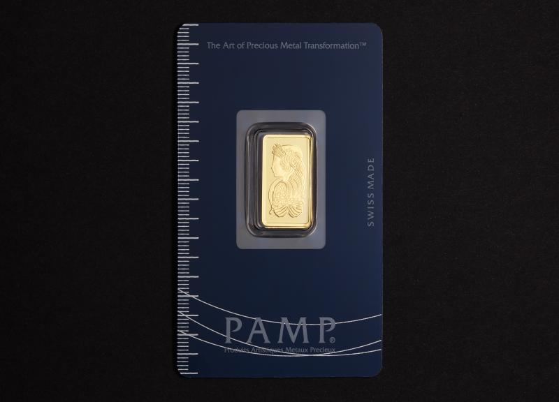 5 gram Gold Bars PAMP Fortuna