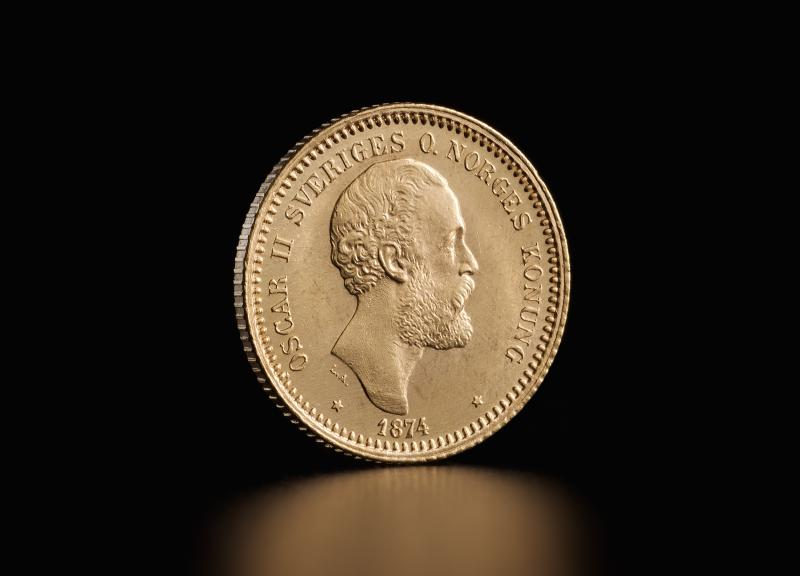 Swedish 10 kronor Oscar II
