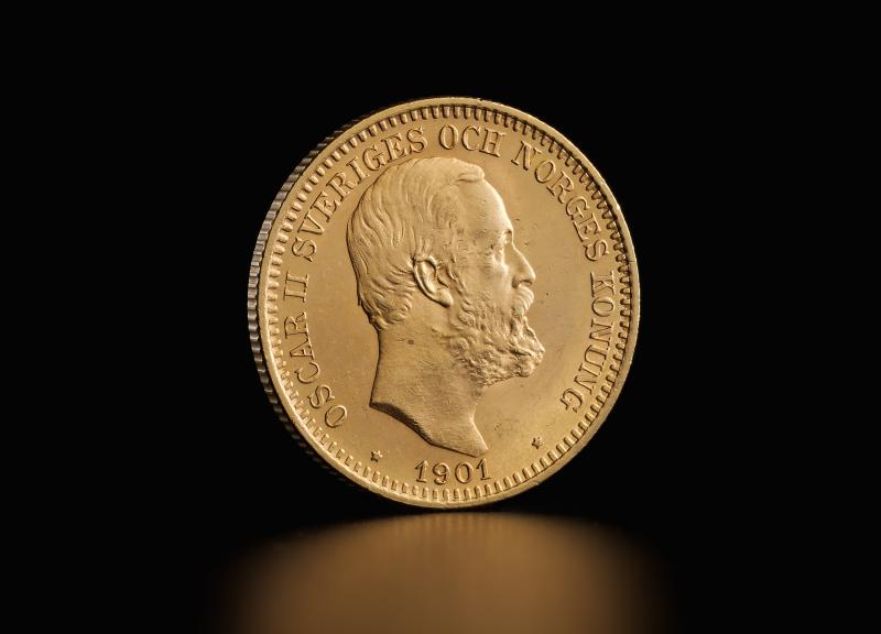 Svensk 20 kronor Oscar II