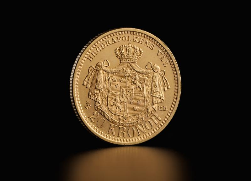 Swedish 20 kronor Oscar II