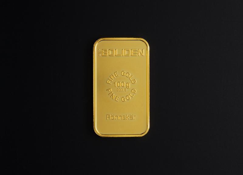 100 gram Guldtacka Boliden