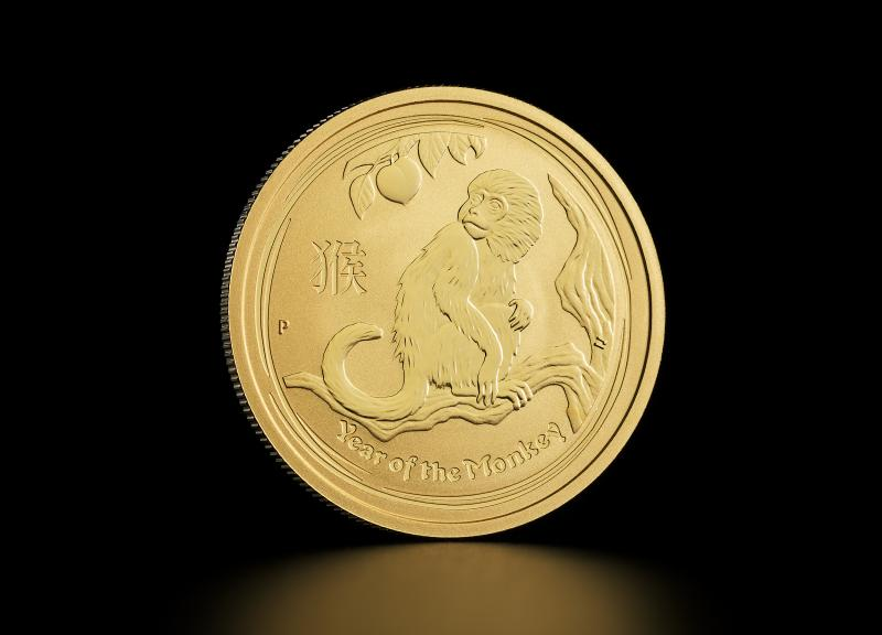 2016 1/2 oz Australian Gold Lunar Year of the Monkey