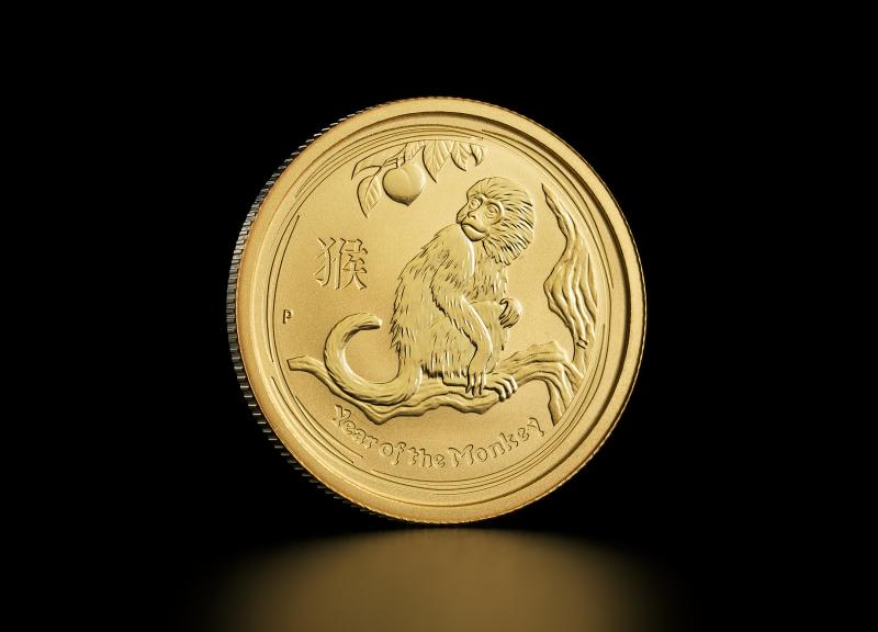 2016 1/4 oz Australian Gold Lunar Year of the Monkey