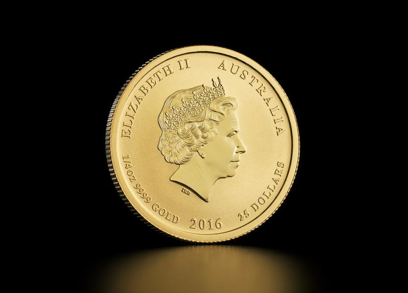 2016 1/4 oz Australisk Guld Lunar – Apans År