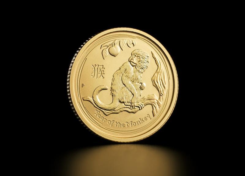 2016 1/10 oz Australian Gold Lunar Year of the Monkey