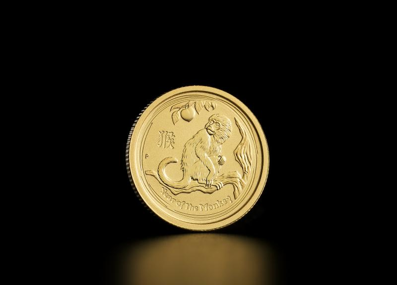 2016 1/20 oz Australian Gold Lunar Year of the Monkey
