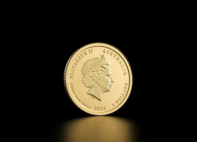 2016 1/20 oz Australisk Guld Lunar – Apans År